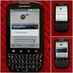 Handy-Smartphone*Motorola PRO+'Qwertz Tastatur*SIMLOCKFREI+MicroAnsch.+Zubehör