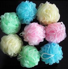 Shower Soap Bubble Body Wash Exfoliate Soft Scrub Puff Sponge Mesh Net Ball RMAU