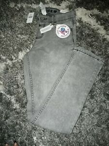 Girls justice jeggings size 16 new grey washed