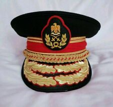 More details for replica colonel gaddafi military army general officer parade dress visor hat cap