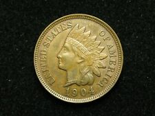 SUMMER SALE!!  AU 1904  INDIAN HEAD CENT PENNY w/ FULL LIBERTY & DIAMONDS #81c