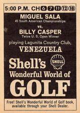 1967 TV GOLF AD~LAGUNITA COUNTRY CLUB COURSE VENEZUELA~MIGUEL SALA~BILLY CASPER