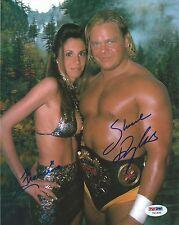Shane Douglas & Francine Signed 8x10 Photo PSA/DNA COA ECW WWE Picture Autograph