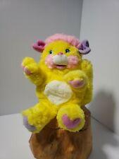 ORIGINAL Popples Potato Chip Yellow Pink Vintage 80s Mattel Plush Stuffed Toy