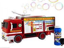 Fire Engine TRUCK MACCHINA delle Bolle Soffiatore soluzione FESTA DI COMPLEANNO BOLLE giocattolo veloce