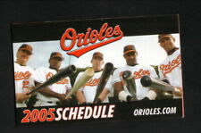 Baltimore Orioles--Sosa--Palmeiro--Tejada--2005 Pocket Schedule--Coke