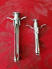 Vintage Stainless Steel Medical Tubex Syringe Holder Set