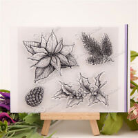 Vivid Pineapple and Flower Rubber Stamp Scrapbooking Photo Album Decorative  RA