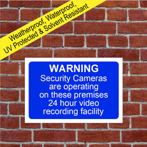 Security video recording sign or sticker 5002 Waterproof Solvent Resistant signs