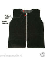 Barber Vest Black, W/ Pockets Reverse NET (LARGE)  New