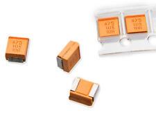 10 Stück 4,7uF 10V Kemet Tantalum capacitors size B 1210 T491 10% (M4505)