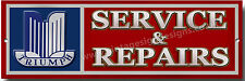 TRIUMPH SERVICE & REPAIRS METAL SIGN.CLASSIC BRITISH TRIUMPH SPORTS CARS