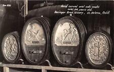 RPPC BERINGER BROS WINERY CASK ALCOHOL ST. HELENA CALIFORNIA REAL PHOTO POSTCARD