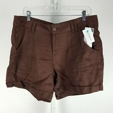 Lee Womens Shorts Size 12 Med Brown Chateau Mid Rise Fit Tencel Breezy NWT