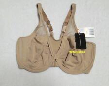 Body by Wacoal Seamless Front Close T-Back U/W Bra #65124 32DD Toast NWT