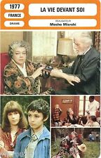 Fiche cinéma. Movie Card. La vie devant soi 1977 (France) Moshe Misrahi