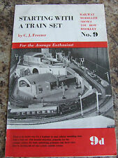 STARTING WITH TRAIN SET RAILWAY MODELLER SHOWS YOU HOW BOOKLET PECO PUBLICATION