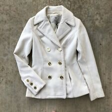 Guess Cream Peacoat Gold Buttons winter coat XS