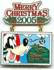 Disney Pin:  DCL Disney Cruise Line Merry Christmas 2005 - Santa Goofy