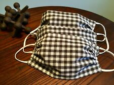Handmade Face Mask with Nose Piece - Black & White Checkered