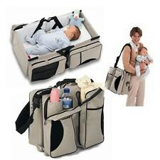 Baby Diaper Travel Bag Changing Station Infant Nursery Crib Portable Folding Bed