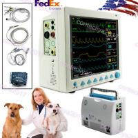 ICU/CCU Veterinary PATIENT MONITOR ECG EKG SPO2 PR NIBP 6-PARAMETERS For VET,USA