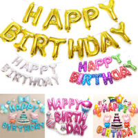 """16"""" Foil Happy Birthday Letter Number Balloons Birthday Wedding Party Decoration"""