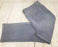 Simply Vera Vera Wang Roll Cuff Capri Jeans Sz 16 Petite Blue Denim Medium Wash