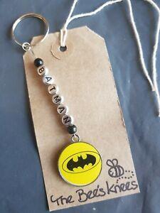 Personalised Batman superhero Keyring  present Gift UK Seller