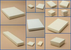 Jewellery Card Boxes Cream Ivory  Flocked Pad Gift  Favour Present  Shop