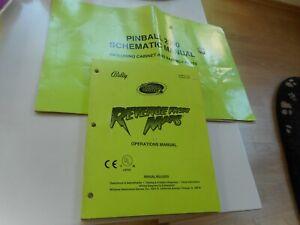 Englische Anleitung mit Schaltplänen für Flipper Revenge from Mars Pinball 2000