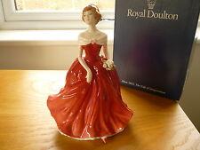 Royal Doulton Ramo De Invierno Estatuilla De Dama HN3319 Gold Edition En Caja
