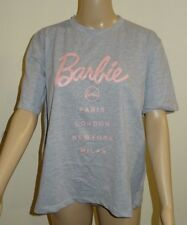 Women's Barbie Missguided Short Sleeve City T-Shirt Grey UK Size 8 VR70 010