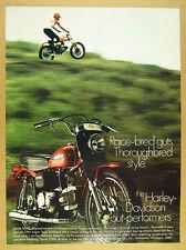 1969 Harley-Davidson SPRINT SS350 Motorcycle color photo vintage print Ad