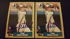 Tim Wallach Expos 1987 Topps #55 Expos Signed Authentic Autograph JA15