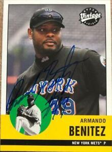 Armando Benitez Autographed 2001 Upper Deck Vintage #280
