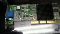USED ATI Rage 128 Ultra E-G012-01-2979 (B) AGP Graphics Video Card