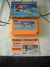 >> CLU CLU LAND NINTENDO NES FAMICOM JAPAN IMPORT COMPLETE IN BOX! <<