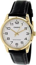 Casio Men's Black Leather Quartz Watch MTPV001GL-7B