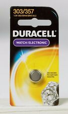 NEW! Duracell 303/357 Button Coin Battery Silver Oxide 1.5 v Watch Calculator