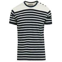 NEW MADCAP MENS RETRO 60s 70s MOD STRIPED BRETON TOP T-SHIRT Le Beat MC470