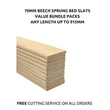 70mm Wide Replacement Curved Bent Wooden Beech Sprung Bed Slats Slates 10 Pack