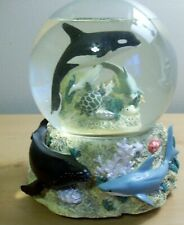 Sea Life Beyond the Reef musical Snow Globe Westland Whale, Dolphin, Sea turtle,