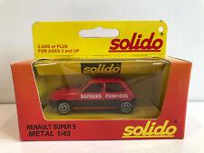 1/43 Solido Voiture Miniature Renault Super 5 Pompiers Neuf