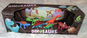 Playtek Dinosaurs 6 Piece Playset NEW