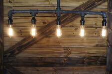 - Edison Age 5-Light Pendant Pipe Light Chandelier, Industrial pipe  light