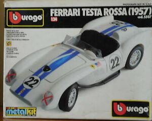 FERRARI TESTA ROSSA (1957) Burago scala 1:24 BOXED Die-cast METALKIT cod. 5507