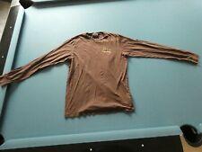 Ed Hardy T-Shirt Langarm Baumwolle Rundhals braun Grösse L M3349