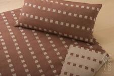 Satin-Bettwäsche Caro aus 100% Bio-Baumwolle, 80x80/155x220 Schoko  NEU !