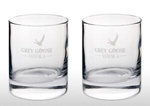 Grey Goose Vodka Tumbler Glass X 2